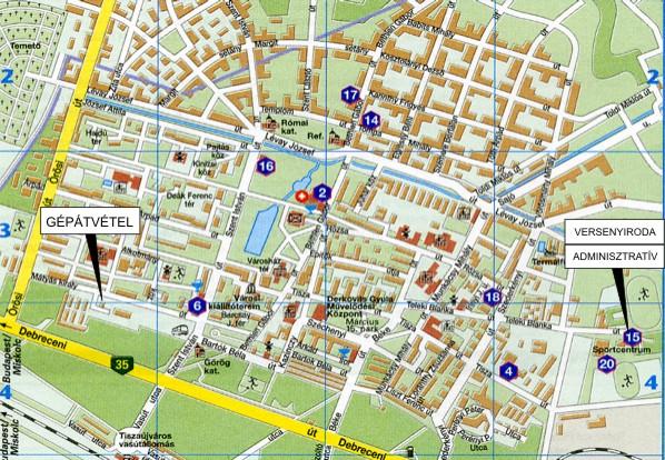 tiszaújváros térkép DuEn RALLY oldala   VI.Tisza Rallye   információk tiszaújváros térkép